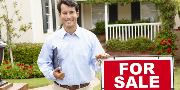 Real estate agent at work